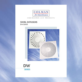 Colman Air Distribution DW Series Swirl Diffusers Brochure